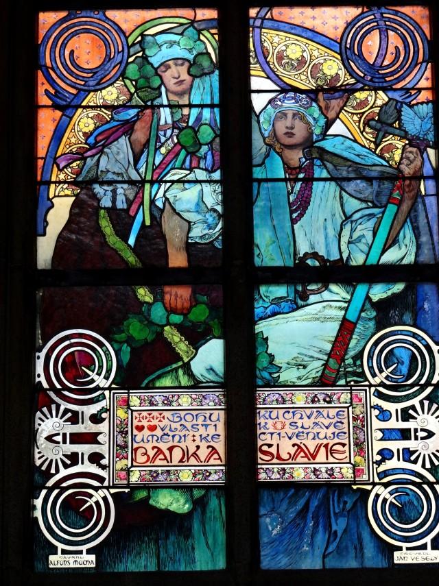 Alfons Mucha - Vitral 004 La leyenda de San Cirilo y San Metodio - 1931