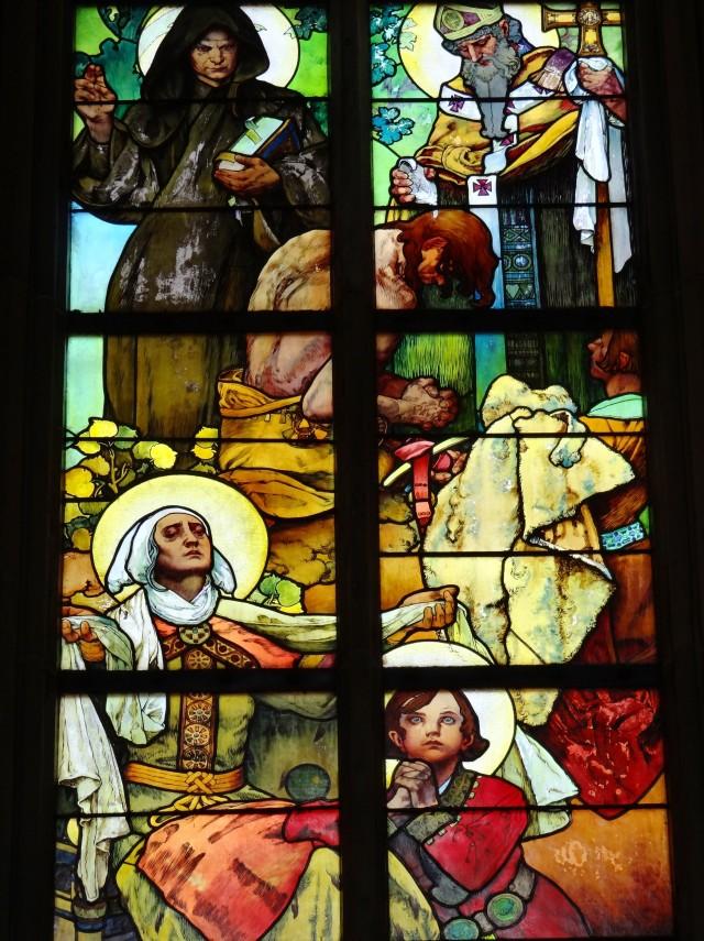 Alfons Mucha - Vitral 005 La leyenda de San Cirilo y San Metodio - 1931