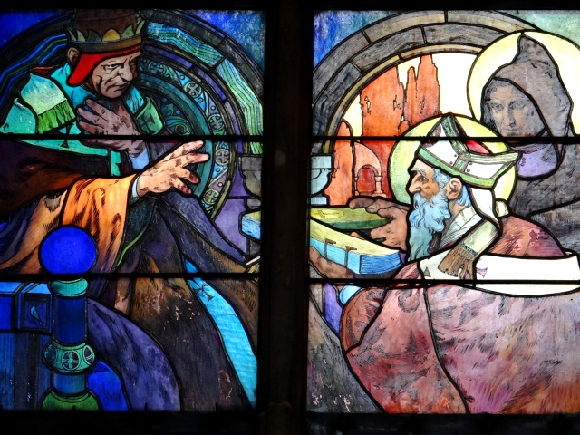 Alfons Mucha - Vitral 006 La leyenda de San Cirilo y San Metodio - 1931