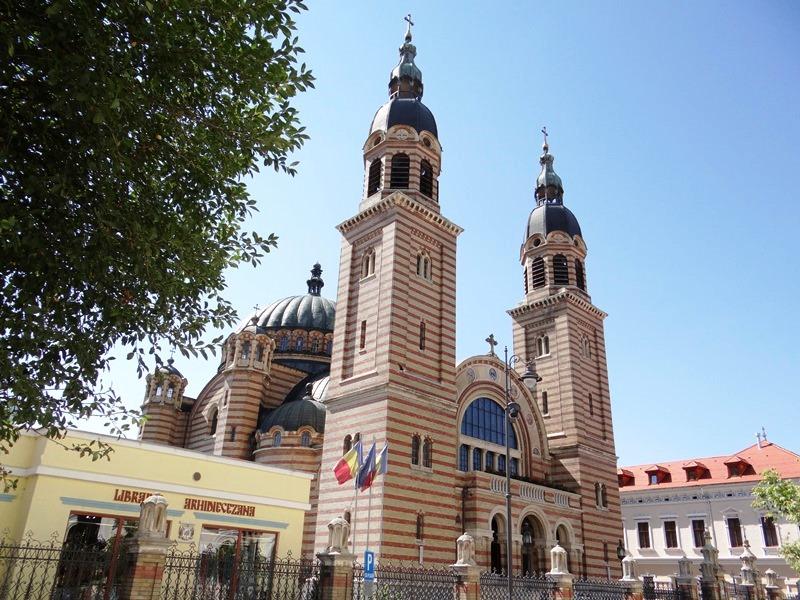 Vista externa de la Catedral Ortodoxa de Sibiu