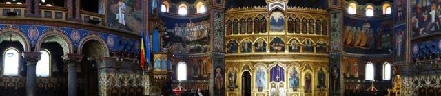 Vista interior de la Catedral Ortodoxa de Sibiu