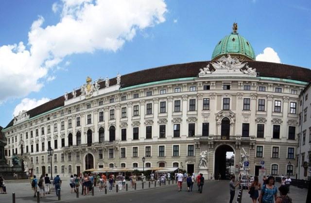 Vista del Hofburg desde dentro del complejo