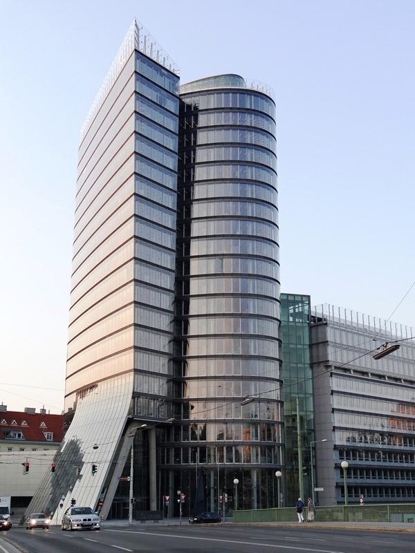 Vista de la Viena moderna