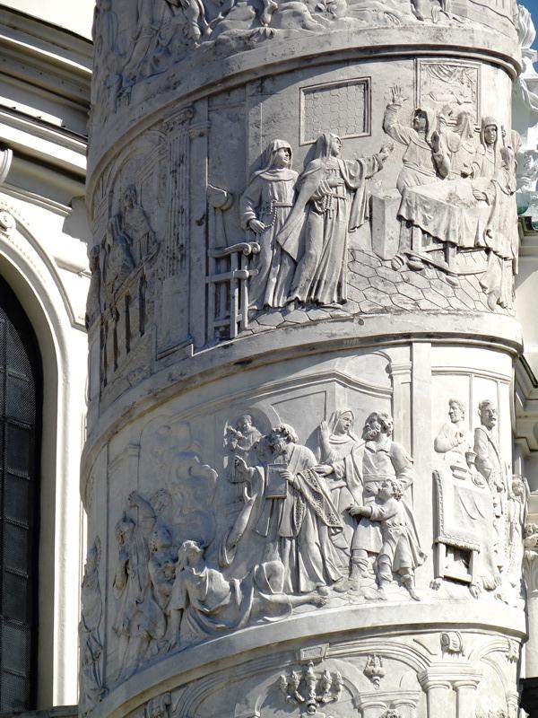 Detalle de una de las columnas de la Karlskirche