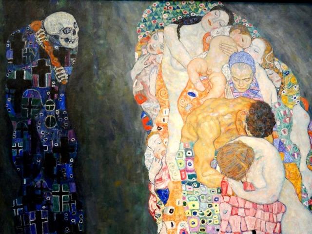 Una de las típicas obras de Gustav Klimt