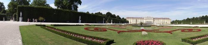 Vista de los jardines del Palacio Schönbrunn