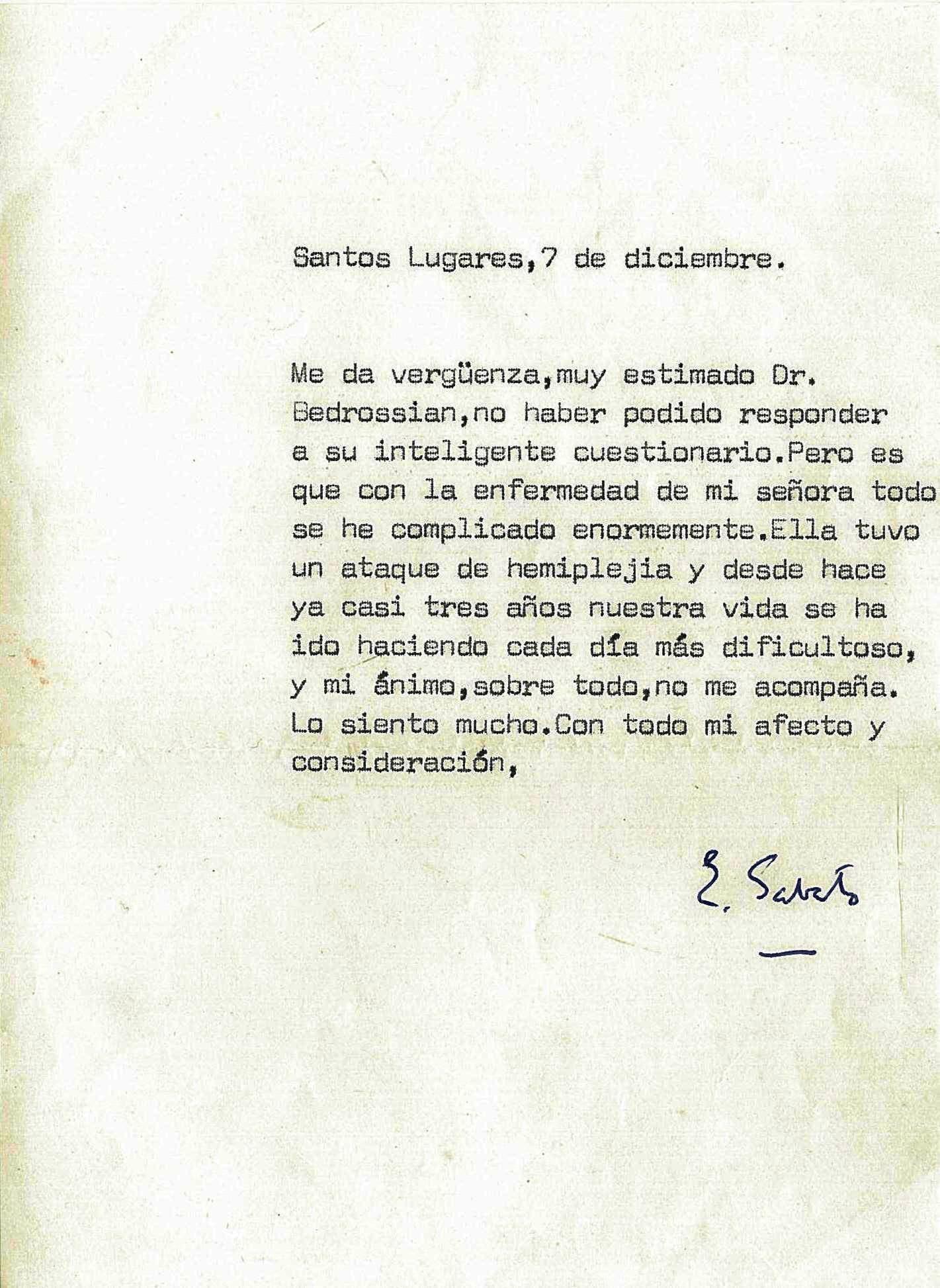 Ernesto Sábato Un Encuentro Y Tres Cartas Suyas Por Pablo
