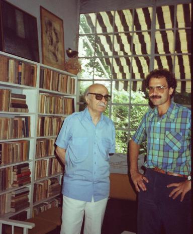 Con Ernesto Sábato, el día que lo visité en su casa