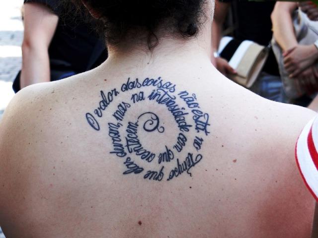 """Tatuaje """"El valor de las cosas"""""""