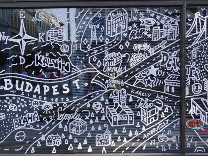 """Un mapa """"creativo"""" de Budapest, una ciudad llena de arte"""