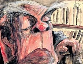 Jorge Luis Borges (caricatura)
