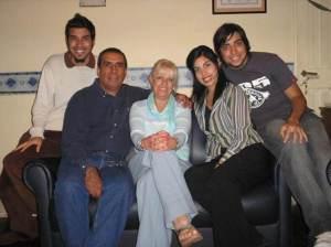 Mariano, Oscar, Nora, Anabella y Rodrigo Allende