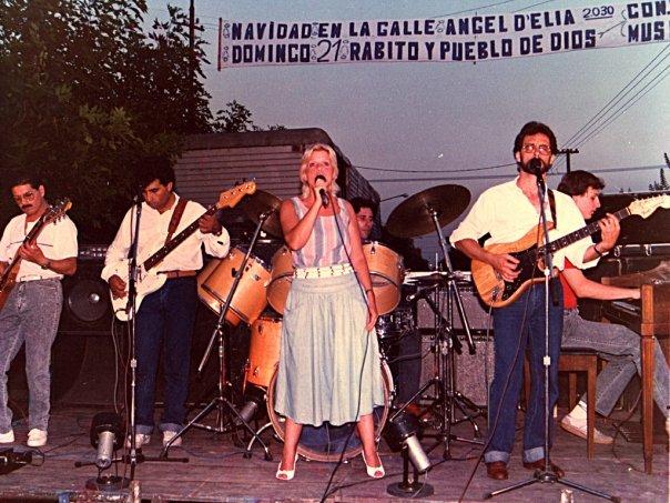 Oscar Allende con Pueblo de Dios, Rabito y Sasha Verstraeten, San Miguel, Pcia de BsAs, 1986