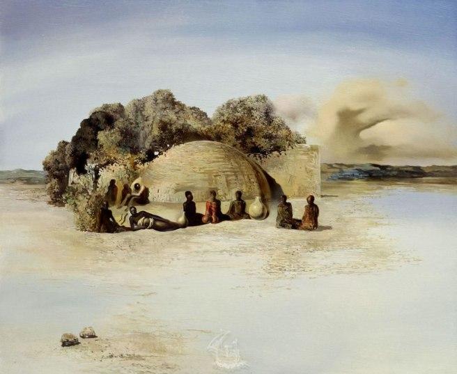 """""""Cabeza Paranoica"""" (1935), obra del genial Salvador Dalí"""