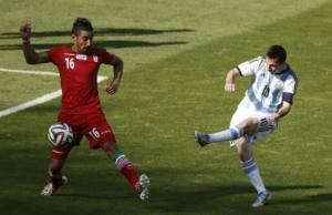 Messi y su gol ante Iran