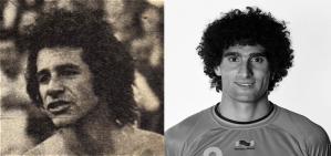 Victorio Nicolás Cocco y Marouane Fellaini, dos temidos mediocampistas, grandes cabeceadores y de enorme cabellera