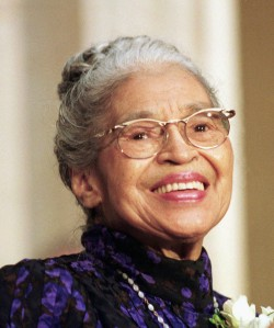 ROSA PARKS SMILES AT MEDAL CEREMONY ON CAPITOL HILL