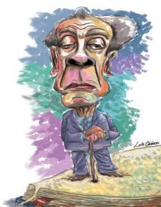 Jorge Luis Borges por el artista hondureño Luis Chávez