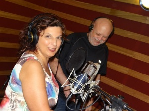 Marilí Machado y Samy Mielgo durante la grabación