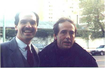Pablo con Joan Manoel Serrat
