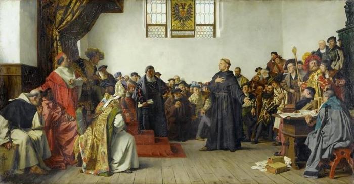 Lutero en la Dieta de Worms (1877) Anton von Werner