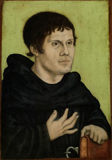 Retrato póstumo de Martín Lutero como monje agustino (1546)