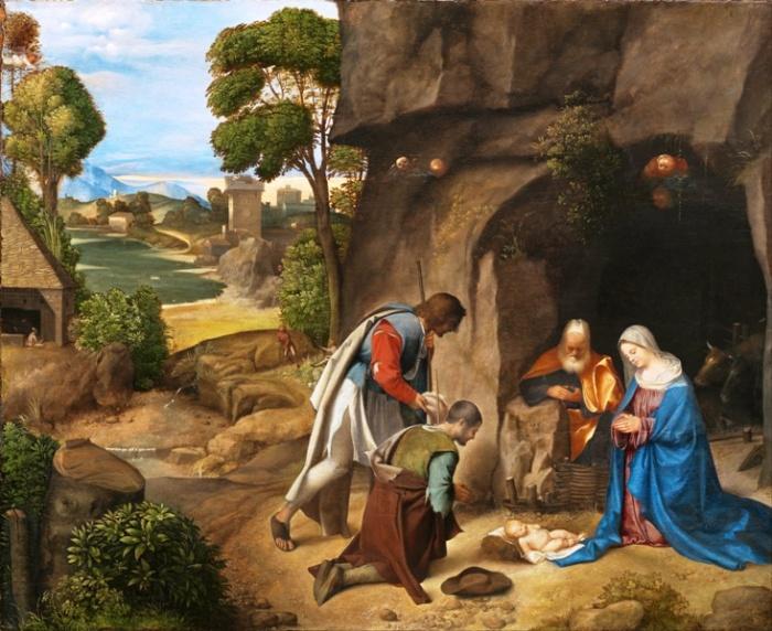 La Adoración de los Pastores (Giorghione) 02