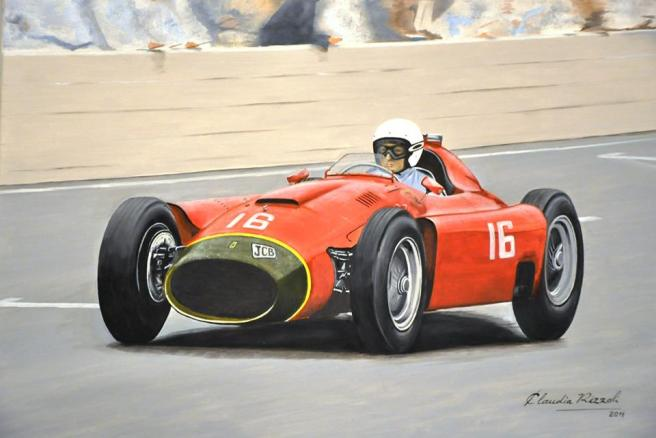 Lancia Ferrari (óleo sobre tela)